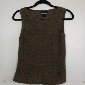 Sigrid Olsen Sleeveless Sweater Gold-Brown Small
